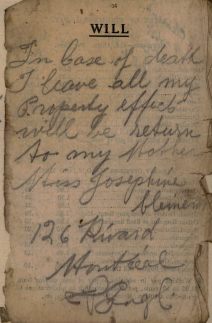 testament edouard clement 1894-1917