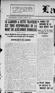 la patrie 6 aout 1923