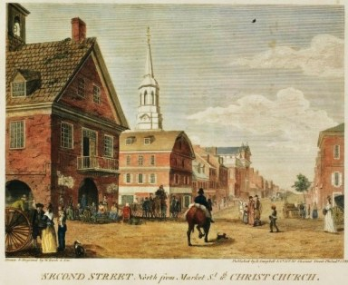 second st and christ church 1800
