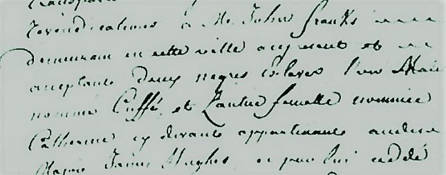 extrait ct achat de negres 2 aout 1777